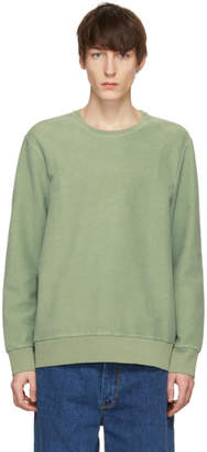 Cmmn Swdn Green Coen Reversed Loopback Sweatshirt