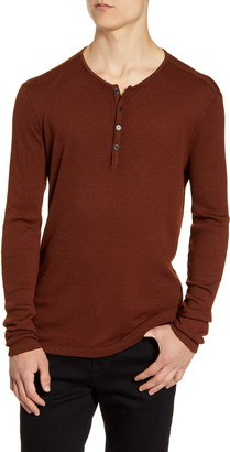 John Varvatos Slim Fit Ribbed Henley
