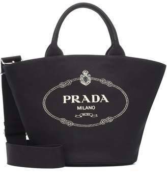 b0650f7803a5 Prada Canvas Tote Bag - ShopStyle