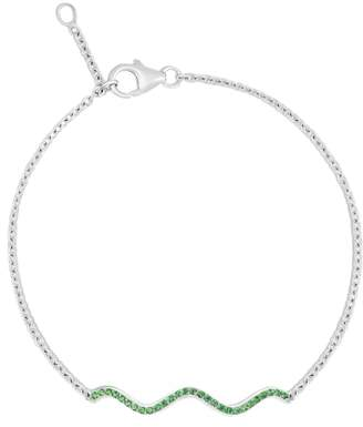 Sabine Getty Memphis Chained Wave Tsavorite Bracelet