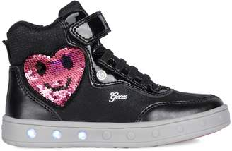 Geox Kid's Skylin Light-Up High-Top Sneakers