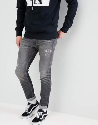Calvin Klein Jeans skinny jeans with rip and repair