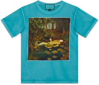 "Gucci Oversize T-shirt with ""Soave Amore Guccification"""
