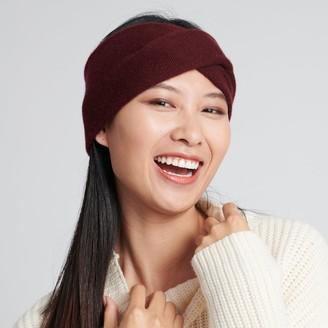 Naadam Cashmere Twist Headband Plum