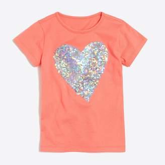 J.Crew Factory Girls' sequin heart keepsake T-shirt