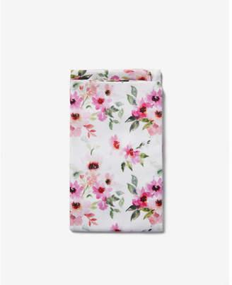 Express pre-folded floral cotton pocket square