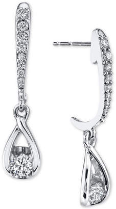 Sirena Diamond Drop Earrings (1/2 ct. t.w.) in 14k White Gold