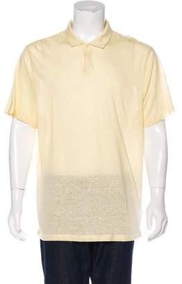 Michael Kors Linen-Blend Polo Shirt w/ Tags