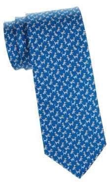 Salvatore Ferragamo Cat& Dog Silk Tie
