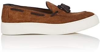Mens Tasseled Suede Slip-On Sneakers Barneys New York tlesK