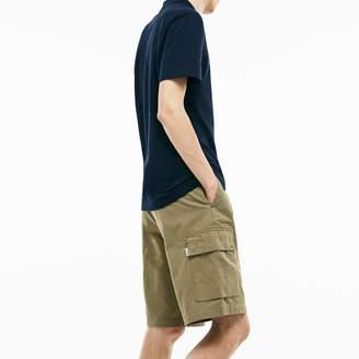 Lacoste Men's Twill Cargo Bermuda Shorts