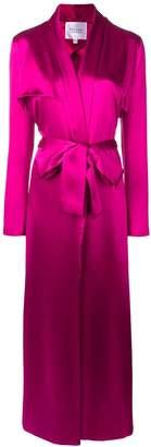 Galvan long belted coat