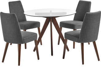 Webster Temple & 4 Seater Banjo Mid Century Dining Table & Chairs Set