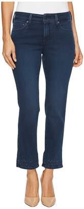 NYDJ Petite Petite Sheri Slim Ankle Hem Embroidery in Varick Women's Jeans