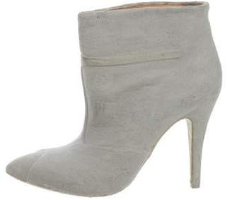 Maison Margiela Graffiti Cement-Dipped Ankle Boots