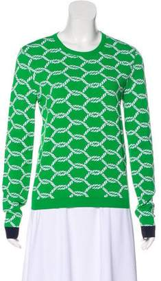 Tory Burch Jacquard Crew Neck Sweater