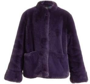 Emporio Armani Stand Collar Faux-Fur Jacket