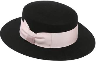 Federica Moretti Wool Felt Boater Hat