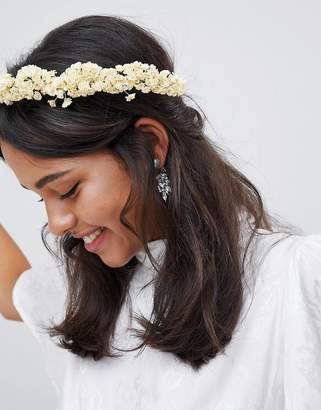 Asos Design DESIGN Bridal Faux Gypsophila Floral Crown Headband