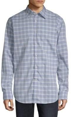 Paul & Shark Check Cotton Button-Down Shirt