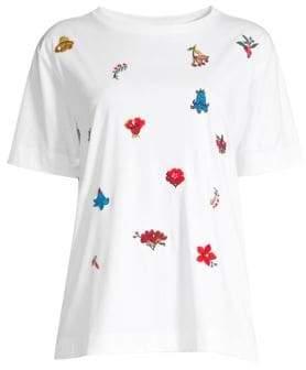 Escada Sport Embroidered Cotton T-Shirt