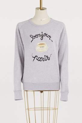 Maison Labiche Bonjour Paris cotton sweatshirt