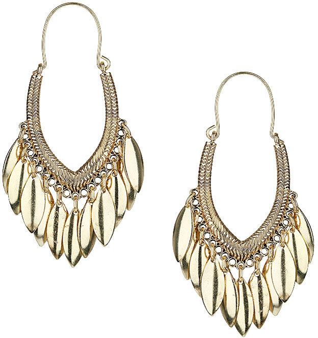Topshop Pointed hoop earrings