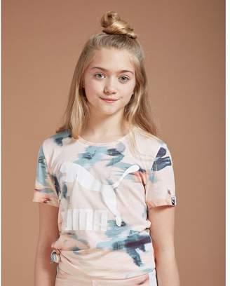 Puma Girls' Classic All Over Print T-Shirt Junior