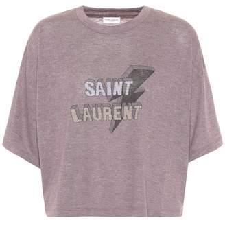 Saint Laurent Cropped T-shirt