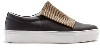 PRIMURY Curio corrugated slip-on leather trainers