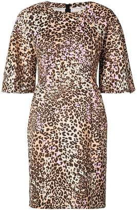 ADAM by Adam Lippes leopard-print sculpted mini dress