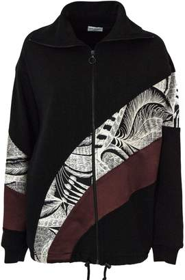 Dries Van Noten Black Cotton Sweatshirt With Print.