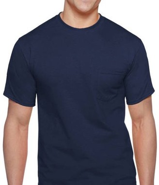 Gildan Men's Workwear Short Sleeve Pocket Tee, 2-Pack