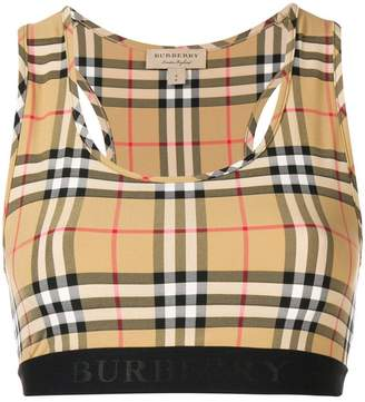Burberry house check sports bra