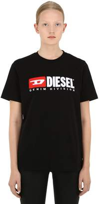 Diesel Embroidered Logo Cotton Jersey T-Shirt
