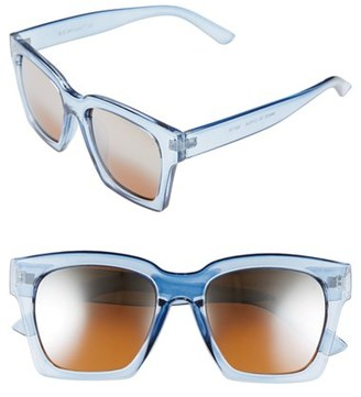 Women's A.j. Morgan 'Knock' 50Mm Sunglasses - Crystal Blue $24 thestylecure.com