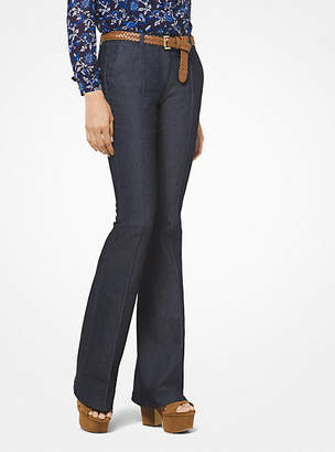Michael Kors Pleated Denim Flares