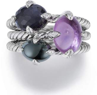 David Yurman Chatelaine(R) Three-Gemstone Diamond Ring