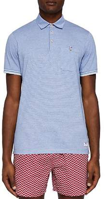 Ted Baker Avvenue Stripe Detail Swim Polo