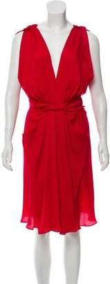 Tara Jarmon Gathered Silk Dress