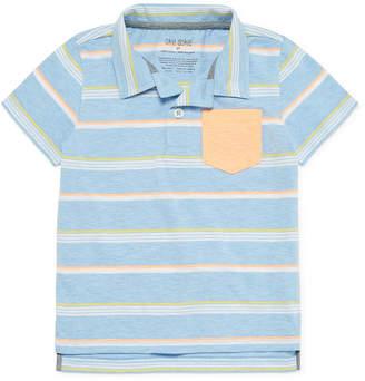 Okie Dokie Boys Banded Collar Short Sleeve Polo Shirt - Toddler