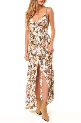 O'Neill Britton Leaf Print Maxi Dress