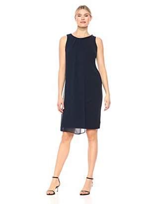 SL Fashions Women's Envelope Hem Pleat Front Dress