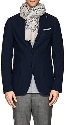 Barneys New York Men's Bandana-Motif Linen-Cotton Scarf
