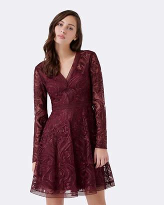 Forever New Kahlia Long-Sleeve Soft Prom Dress