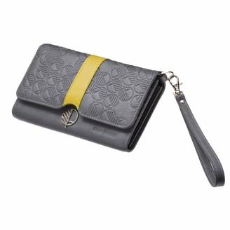 Drew Lennox Silver & Cress English Leather Clutch Bag Travel Wallet