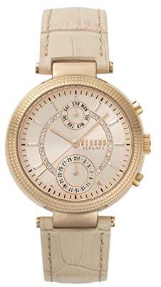 Versus By Versace Women's 'STAR FERRY' Quartz Stainless Steel and Leather Casual Watch