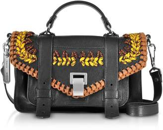 Proenza Schouler Ps1+ Tiny-lux Leather Satchel Bag W/crochet