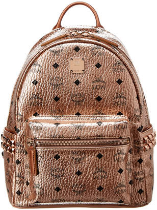 MCM Stark Small Studded Metallic Visetos Backpack