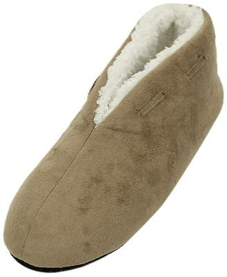 b260910ba6e Home Slipper Men s Classic Designed Coral Plush Suede Toasty Warm Lined  Indoor House Non-Slip